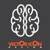 Brain vector icon — Stockvector