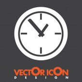 Saat saat vektör simgesi — Stok Vektör