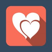 Heart vector icon — Vecteur