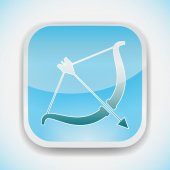 Cupid bow vector icon — Stock Vector