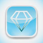Diamond vector icon — Stock Vector