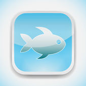 Fish icon vector — Stock Vector