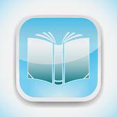 Open book vector icon — Stock Vector