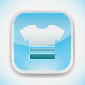 T shirt vector icon — Stock Vector