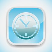 Time clock vector icon — Stock Vector