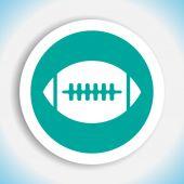 American football vector icon — Stock Vector
