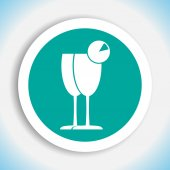 Cocktail glass vector icon — Stock Vector