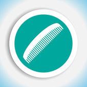 Comb vector icon — Stock Vector