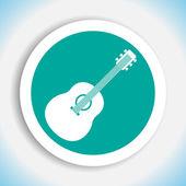 Gitara ikona wektor — Wektor stockowy