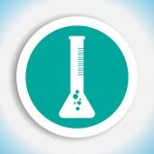 Laboratory test tube vector icon — Stock Vector