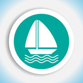 Sailboat vector icon — Stock Vector