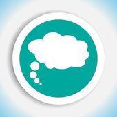 Speech bubble vector icon black — Stock Vector