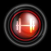 Dumbbells vector icon — Stock Vector
