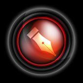 Fountain pen symbol vector icon — Stock Vector