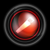Hacksaw vector icon — Stock Vector