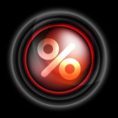Percent sign vector icon — Stock Vector
