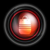 Shopping bag vector icon — Stock Vector