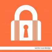 Lock closet state vector icon — Stock Vector