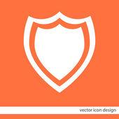 Shield vector icon — Vecteur