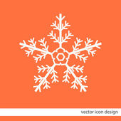 Snowflake vector icon — Vector de stock