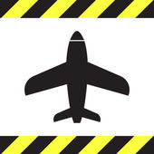 Airplane vector icon logo — Vettoriale Stock