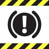 Car parking brake signal vector icon — Stock Vector