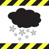 Cloud with snowflake weather vector icon — Stock Vector