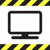 Computer monitor icon — Stock Vector