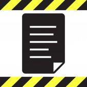 Document black vector logo — Stock Vector