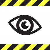 Значок глаза вектор — Cтоковый вектор