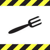Fork vector icon — Stock Vector