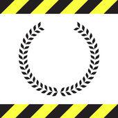 Laurel wreath vector icon — Stock Vector