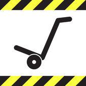 Manual cart vector icon — Stock Vector