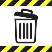 Recycle bin icon empty — Stock Vector