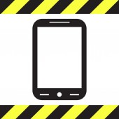 Smart phone vector icon — Stock Vector
