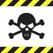 Skull vector icon — Stock Vector