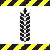 Wheat vector icon — Stock Vector