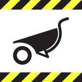Wheelbarrow vector icon — Stock Vector