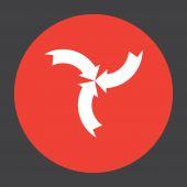 Arrow sign vector icon — Stock Vector