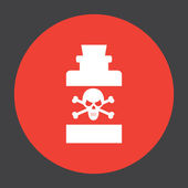 Bottle with poison vector icon — Stock Vector