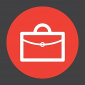 Briefcase vector icon logo design — Stock Vector