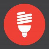 Fluorescent light bulb — Stock Vector