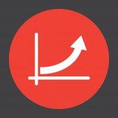 Graph with arrow vector icon — Stock Vector