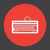 Keyboard vector icon — Stock Vector