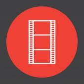 Movie film strip vector icon — Stock Vector