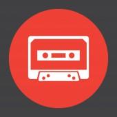 Music tape vector icon — Stock Vector