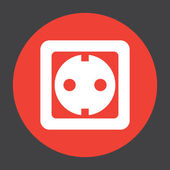 Power socket vector icon — Stock Vector
