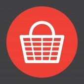 Shopping basket vector icon — Stock Vector
