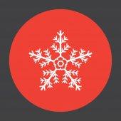 Snowflake vector icon — Stockvektor