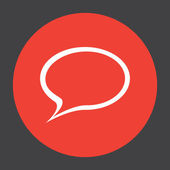 Speech bubble vector icon — Stock Vector